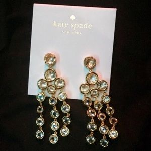 Kate spade crystal earrings nwt